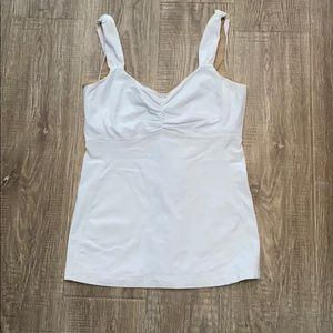 Lululemon White Tank Top Ruched